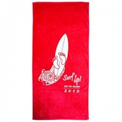 Signature Velour Beach Towel Ivory Touch