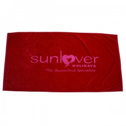 Signature Velour Beach Towel Tone On Tone