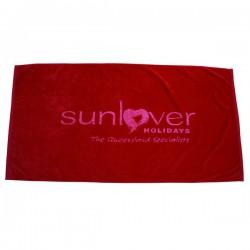 Signature Velour Beach Towel  Tone On Tone