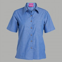 JB's Ladies S/S Indigo Shirt