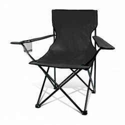 Black Memphis Folding Picnic Chair