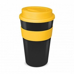 Black - Yellow 480ml Express Reusable Coffee Cups