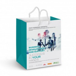 "Medium Laminated Paper Carry Bag €"" Full Colour"