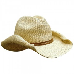 Ladies Cowboy Straw Hat