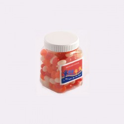 Jelly Beans in Plastic Jar 180G (Mixed Colours or Corporate Colours)