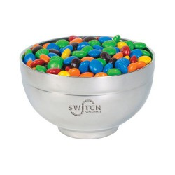 M&M's in Stainless Steel Bowl