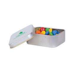 M&M's in Silver Rectangular Tins