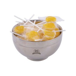 Corporate Colour Lollipops in Stainless Steel Bowl
