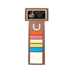 Business Card Dye Cut Bookmark / Ruler with Noteflags