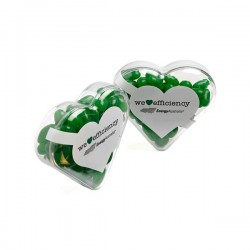 Acrylic Heart Filled with Jelly Beans 50G (Mixed Colours or Corporate Colours)