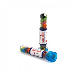 Test Tube Filled with Choc Beans 40G (Corporate Colours)