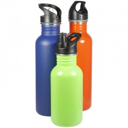500ml Matte Stainless Steel Coloured Drink Bottle