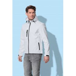 Mens Active Softest Shell Hooded Jacket