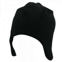 Acrylic/Polar Fleece Beanie w/ Ear Flaps