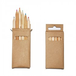 6 Pack Kids Colouring Pencils in Rectangular Box
