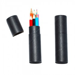 6 Pack Kids Colouring Pencils in cilindrical container