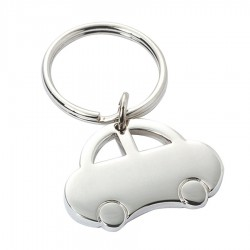 Metal Key Ring Bubble Car with hoop