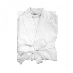 Waffle Bath Robe with Collar