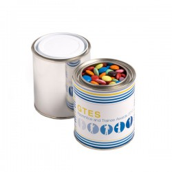 Paint Tin Filled with Choc Beans 250G (Corporate Colours)