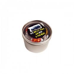 Small Round Acrylic Window Tin Fillled Lindor Balls X 5