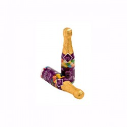 Champagne Bottle Filled with Jelly Beans 220G X 2 Stickers (Mixed Colours or Corporate Colours)