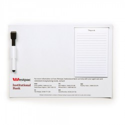 A4 Magnetic Whiteboard w/ Notepad