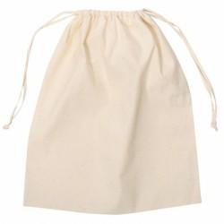 Natural Calico Drawstring Bag