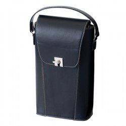 2 Bottle Leather Look Wine Carrier